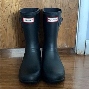 Hunter Rain Boots - Short Matte Black